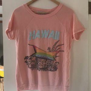 Wildfox short sleeve Hawaii sweatshirt